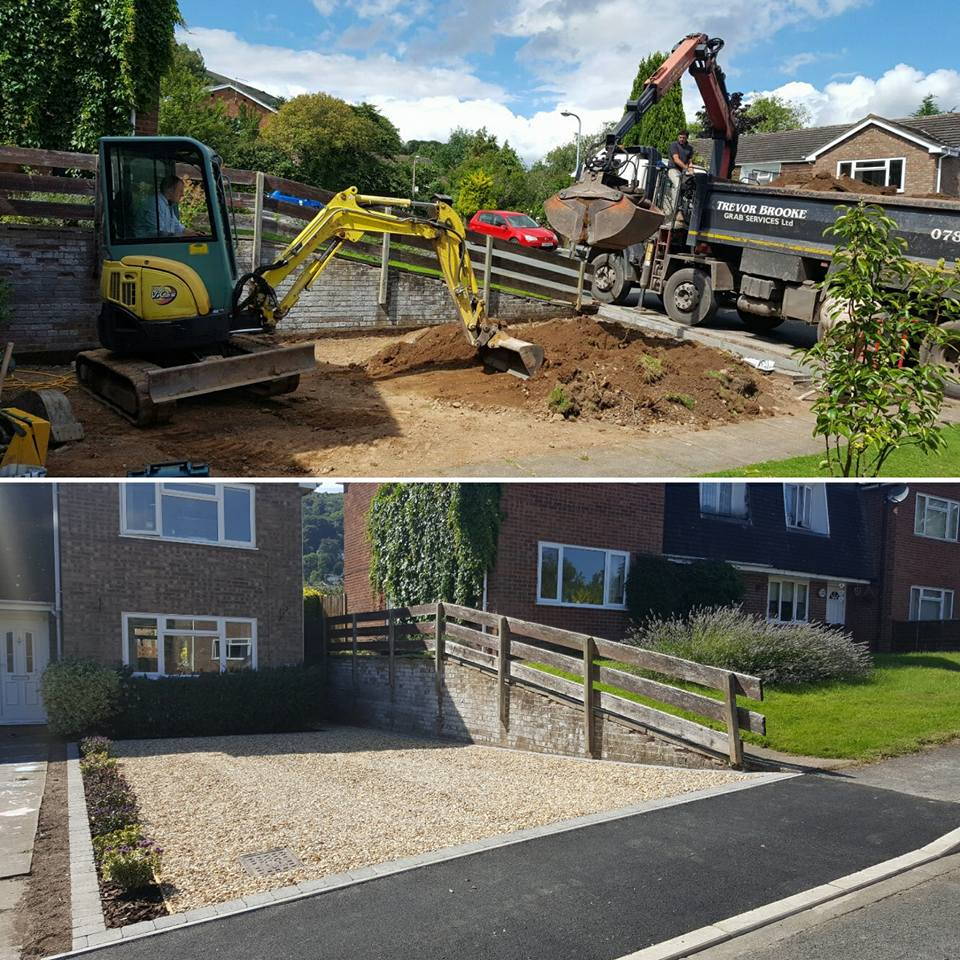 New entrance and driveway for a customer in Malvern